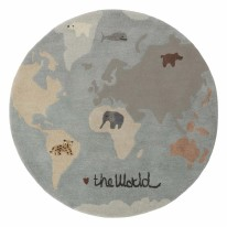 The World Tufted Rug Blue