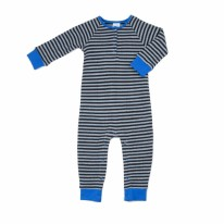 Thermal Stripe Romper 3-6m
