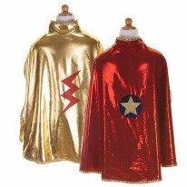Wonder Cape Red/Gold 5-6Y