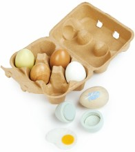 Wooden Eggs- Set x 6