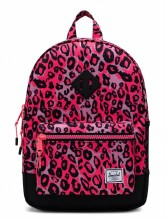 Heritage Youth Backpack Neon Pink Cheetah