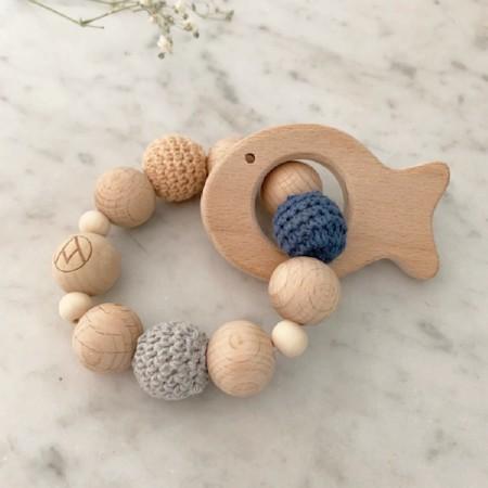 Wood & Crochet Rattle Fish