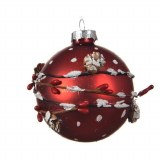 Bauble Pinecone Red