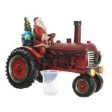 LED Tractor w/Santa and Mist
