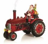 Lit Tractor with Santa 29cm