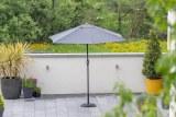Piza 2.5m Parasol Grey
