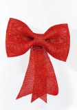 Bow with Glitter 31cm Red