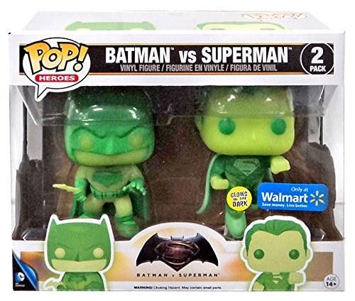 Pop Batman vs Superman Glow In the Dark Exclusive Vinyl Figure 2 Pack