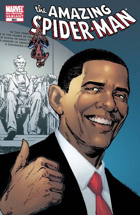 Amazing Spider-Man #583 Obama 5th Ptg Var