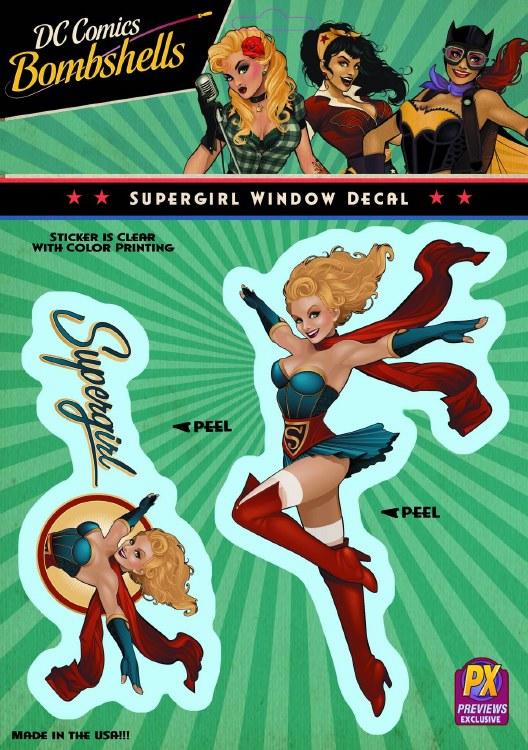 DC Bombshells Supergirl Px Vinyl Decal