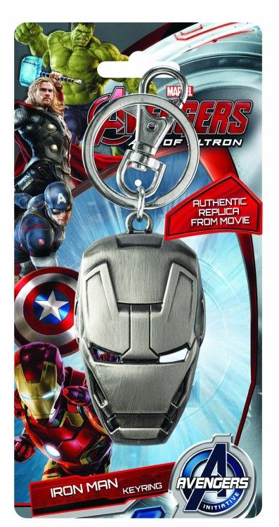 Avengers Age of Ultron Iron Man Face Pewter Keyring