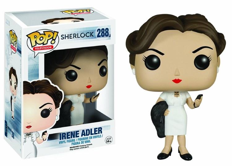 Pop Sherlock Irene Adler Vinyl Figure Damaged Box