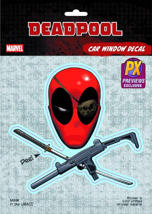Deadpool Skull & Crossguns Px Vinyl Decal
