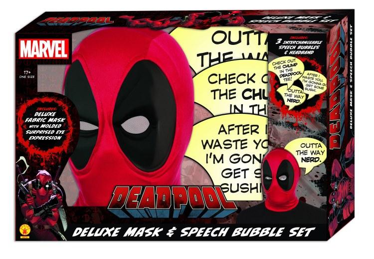 Marvel Deadpool Deluxe Mask & Speech Bubble Px Box Set