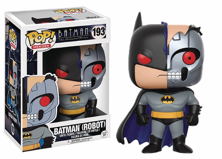 Pop Batman Animated Robot Batman Vinyl Figure Box Damage