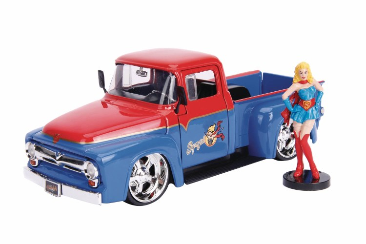 DC Bombshells 56 Ford F100 w/ Supergirl 1/24 Vehicle
