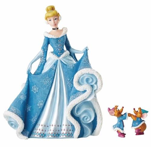 Disney Showcase Holiday Cinderella w/ Mice Figurine