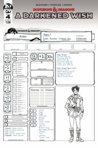 Dungeons & Dragons A Darkened Wish #4 (of 5) Cvr B Character