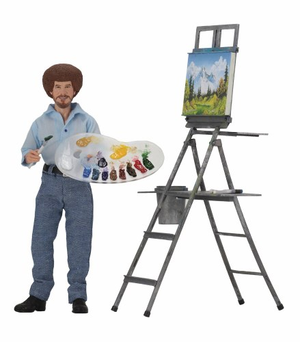 Bob Ross 8in Retro Action Figure