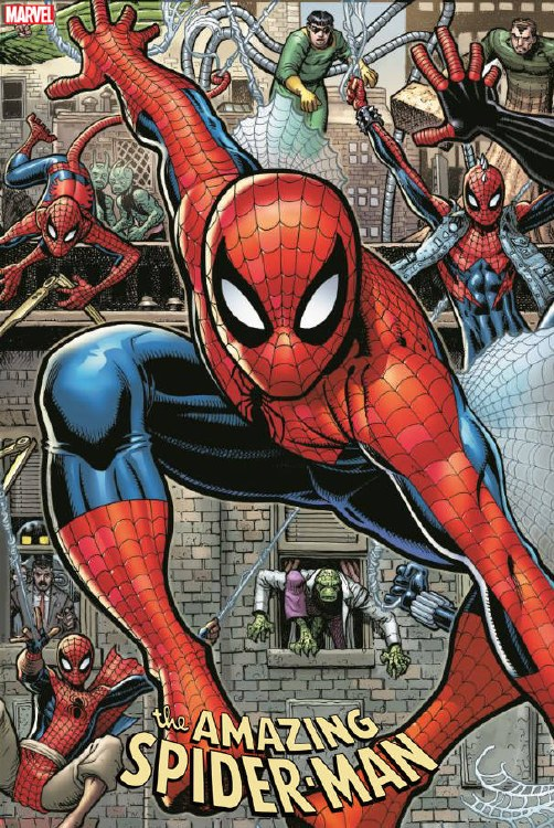 Amazing Spider-Man #32 Art Adams 8 Part Connecting Var