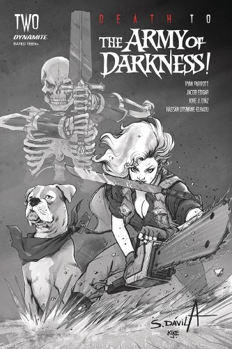 Death To Army of Darkness #2 40 Copy Davila B&W Var