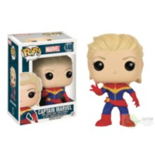 Pop Captain Marvel Unmasked Vinyl Figure Box Damage