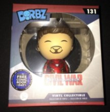Dorbz Civil War #131 FCBD Unmasked Iron Man Tony Stark Vinyl