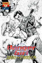 Danger Girl Army of Darkness #1 10 Copy Campbell B&W Incv (N