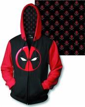 Deadpool Logo Px Zip Hoodie Lg