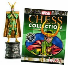 Marvel Chess Figurine #4 Loki Black Bishop w/Collectors Magazine