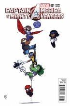 Captain America and Mighty Avengers #1 Young Var Axis