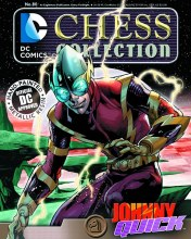 DC Chess Figurine #80 Johnny Quick Black Knight w/Collectors Magazine