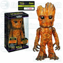 Hikari Gotg Planet X Orange Groot Ltd Ed Vinyl Figure