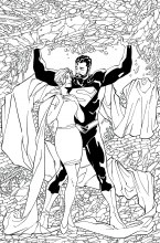 Superman Lois and Clark #4 Adult Coloring Book Variant Edition