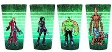 Guardians of the Galaxy Guardians Lineup 4 Pack Pint Set
