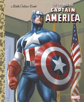 Courageous Capt America Little Golden Book