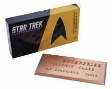 Star Trek Dedication Plaque #1 Uss Enterprise Ncc-1701