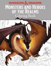Dungeons & Dragons Monsters & Heroes of the Realms Coloring Book