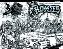 Homies #1 (of 4) Cover D Incentive B&W Variant Huerta