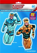 DC Heroes Booster Gold & Blue Beetle Px Vinyl Decal