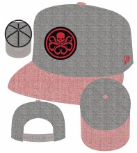 Hydra & Shield Symbol Px Heather Action Snap Back Cap