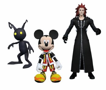 Kingdom Hearts Select Series 1 Mickey Axel  & Shadow Action Figures