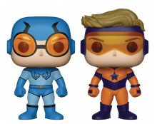 Pop Heroes Booster Gold & Blue Beetle Px Vin Fig 2pk