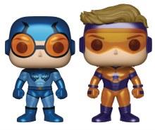 Pop Heroes Booster Gold & Blue Beetle Px Vin Fig Metallic 2 Pack