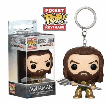 Pocket Pop Justice League Movie Aquaman Fig Keychain