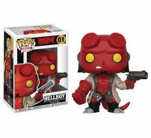 Pop Comics Hellboy Hellboy Vinyl Figure Box Damage