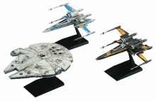 Sw E8 Last Jedi Resistance Vehicle 3pk Mdl Kit Set