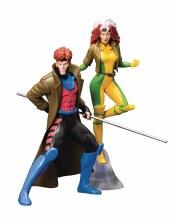 X-Men 92 Gambit & Rogue 2pk Artfx+ Statue