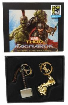 Marvel Thor Ragnarok Pewter Con Excl Key Ring Set
