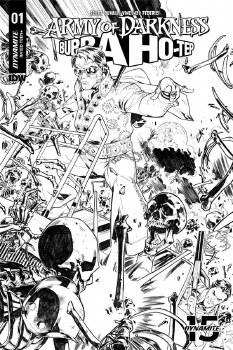 Army of Darkness Bubba Hotep #1 1:10 Gomez B&W Incentive Var